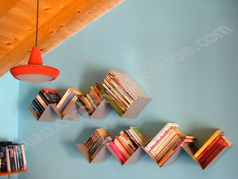 Libreria da Muro Porta Dvd Formata Da 8 Lati in Acciaio - Carpenteria ...