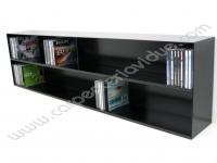 Libreria Orizzontale in Acciaio da Muro Porta Cd  Formata Da 2 R