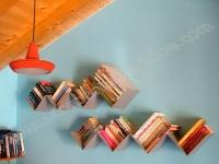 Libreria da Muro Porta Dvd Formata Da 8 Lati in Acciaio