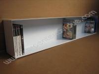 Libreria orizzontale in acciaio da muro porta DVD ad 1 ripiano