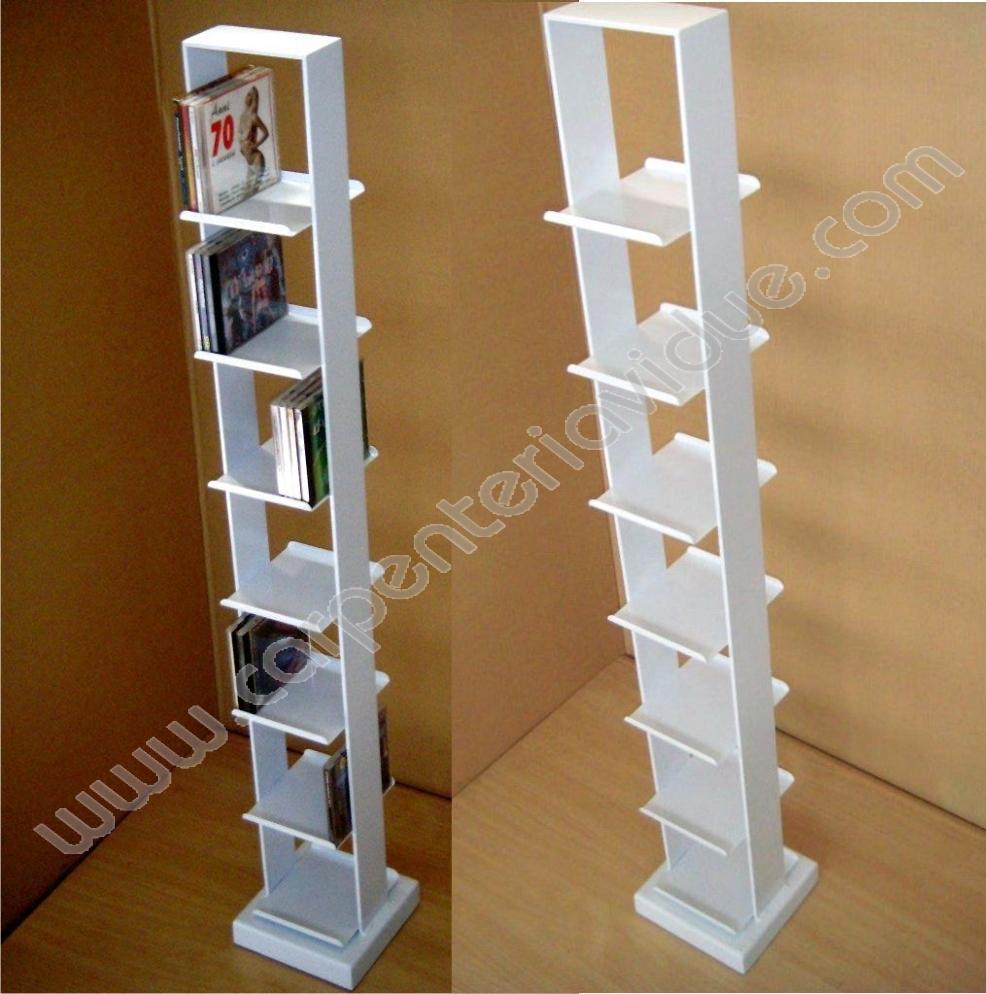 Libreria Profondità 15 Cm libreria a colonna in acciaio h 120,5cm formata da 7 ripiani